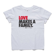 Kid's crew neck 'LOVE MAKES A FAMILY' T-Shirt