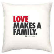 Cushion cover 'LOVE MAKES A FAMILY'